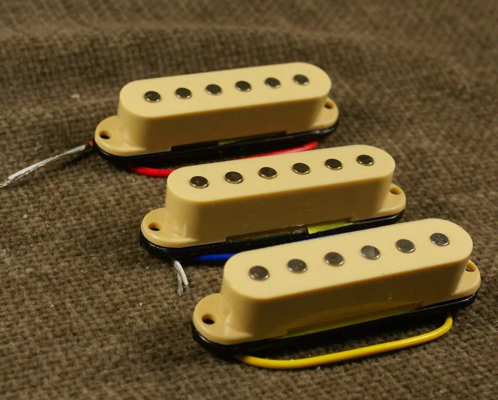 (A21) 1 Set of SSS Single Coil Pickup for Strat or similar Guitar, CREAM