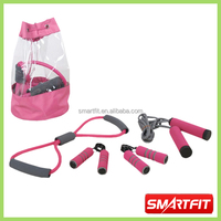 lovely pink color training set with portable pvc bag body strength training set for indoor using