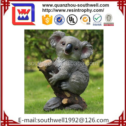 2015 Koala Shaped Animated Resin Zoo Animal Craft