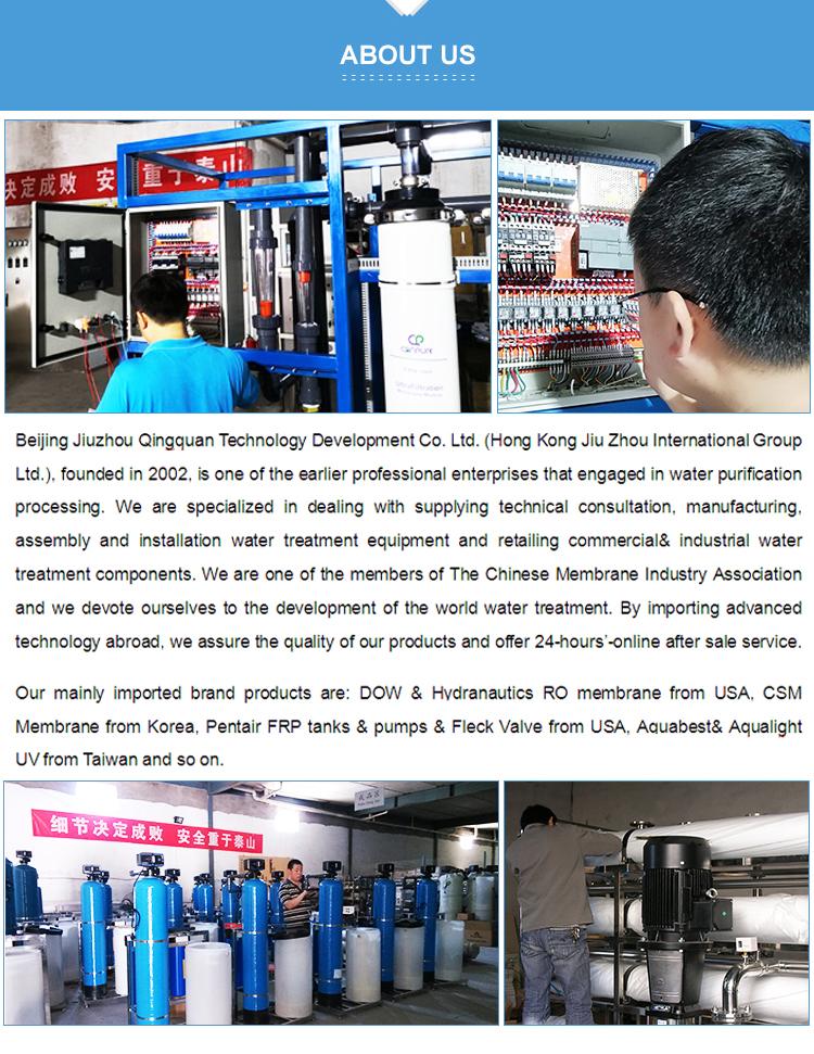 6000LPH dos etapas Ro Planta de Tratamiento de Agua fabricante de agua pura