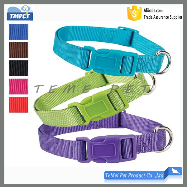 Personalized pet accessories custom nylon adjustable dog collar