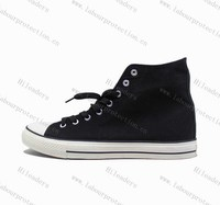 Wholesale Fashion High Cut Casual Canvas Shoes / vulcanized canvas shoes