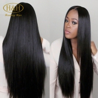 New Arrival Virgin Unprocessed 8A Peruvian Human Hair middle part Silky Straight Silk Top Full Lace Wigs With Baby Hair