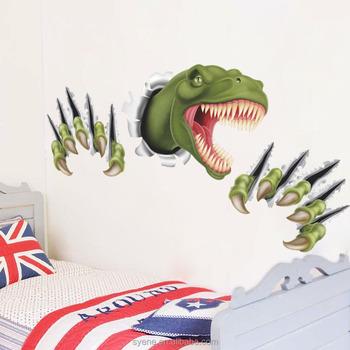 Nieuwste Dinosaurus 3d Muursticker Slaapkamer Woondecoratie Anime ...