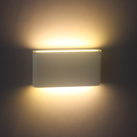 12W White Simple up and down wall lamp square outdoor light for garden