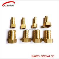 brass fitting male female thread hexagonal pagoda-shape hose adapter