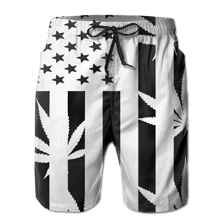 16ca62b7a2 Swim Clothing Mens Firefighter Red Line American Flag Casual Quick Dry Swim  Trunks Elastic Drawstring Swim Shorts ...