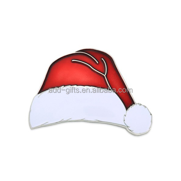 christmas hat enamel metal Pin