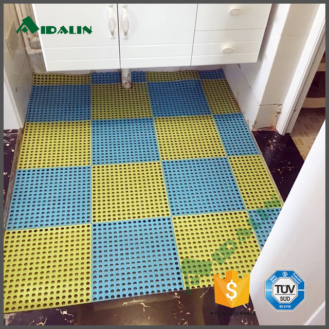 Best Large Blue And Yellow Non Slip Pvc Shower Bath Mat