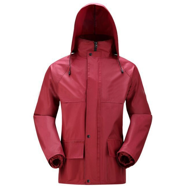 Polyester Motorcycle Rain Suit For Mens Waterproof Windbreaker Jacket And Pant Hooded Raincoat
