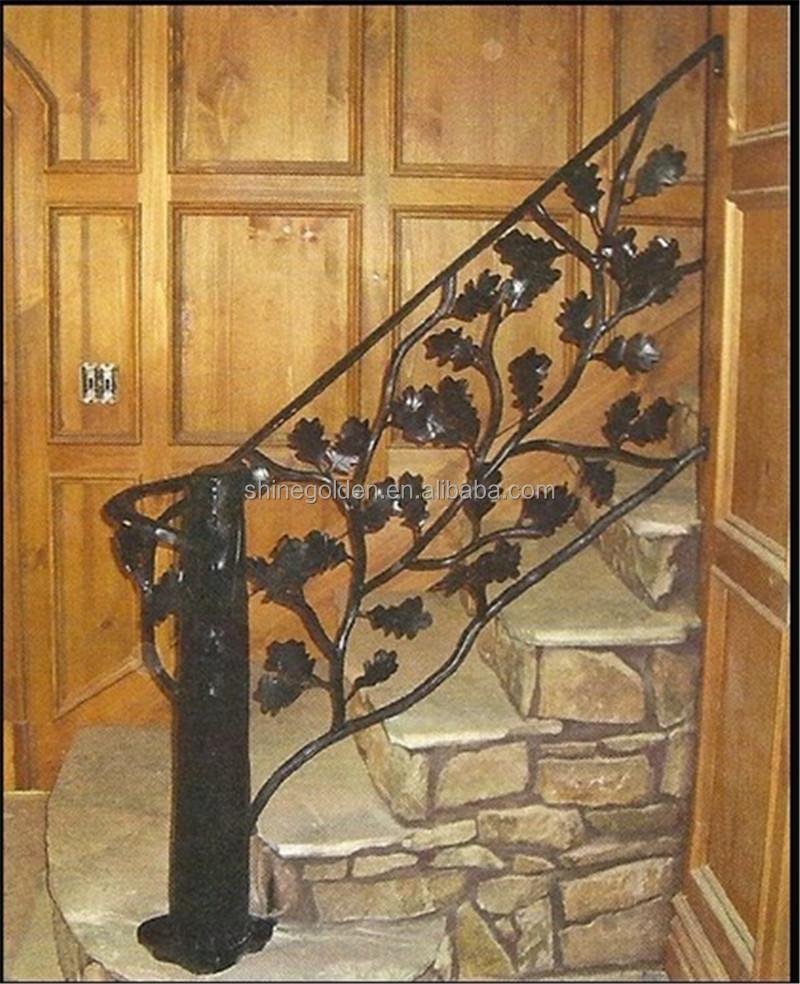 Doble Zanca Escalera Curva Curvada Escalera Entrada Interior  ~ Barandillas De Forja Para Escaleras De Interior