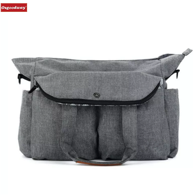 Osgoodway High Capacity Korean Style Fashion Waterproof Custom Logo Mummy Baby Diaper Bag for Mom