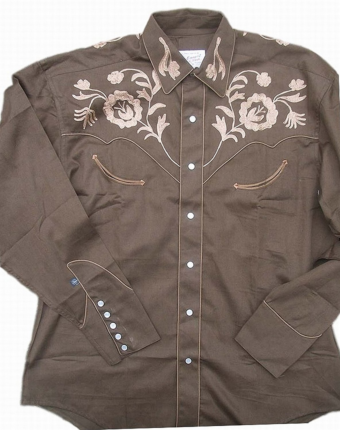 ab99c804 Get Quotations · Rockmount Mens Vintage Style Western Floral Embroidery  Snap Shirt