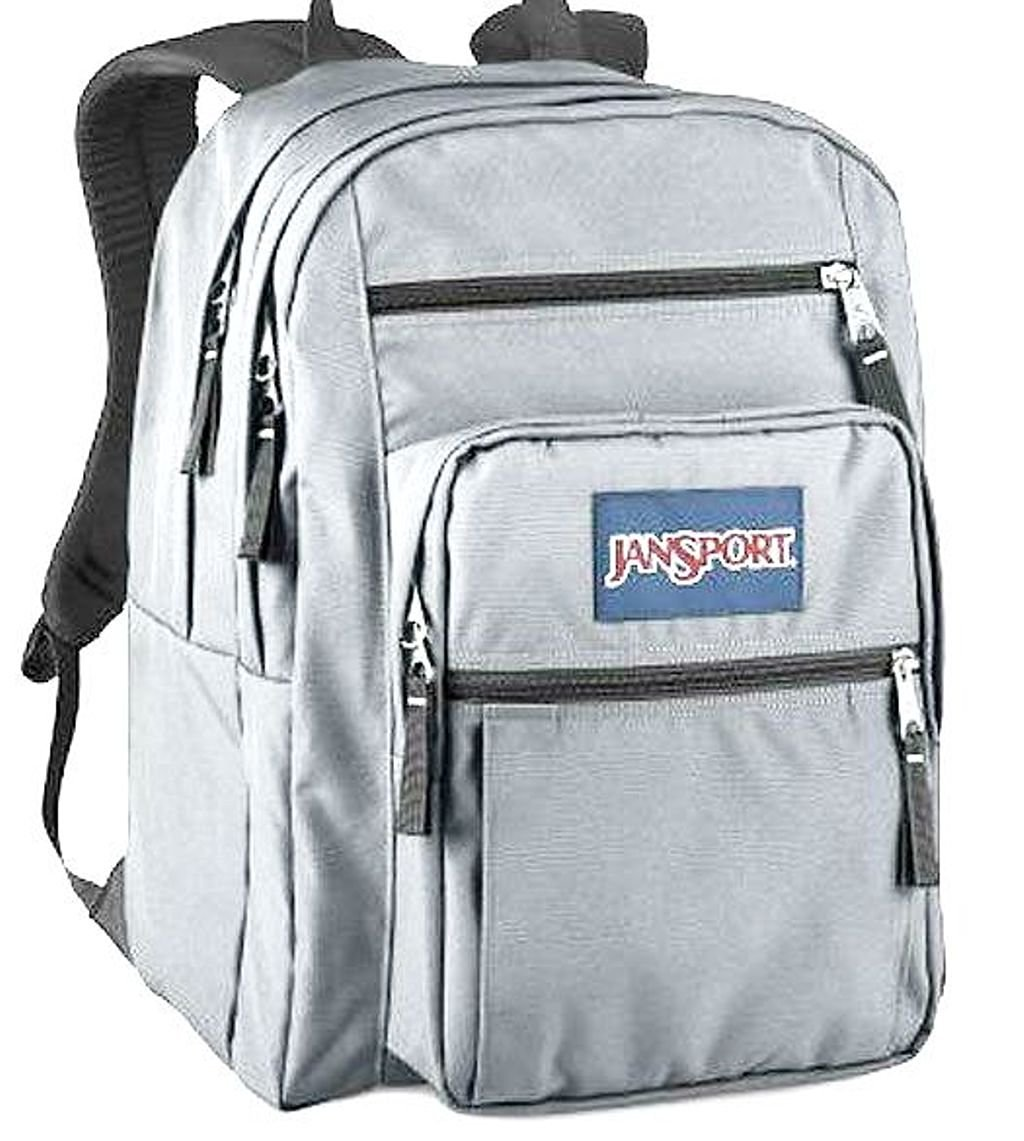 140d993532 Get Quotations · Jansport Big Student Classic Backpack Grey Rabbit Backpack