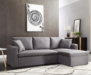 L Shape Corner Sofa Bed With Storage