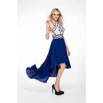 Sleveless Heavy Beaded Chiffon Short Long Tail Prom Dresses - Buy ...