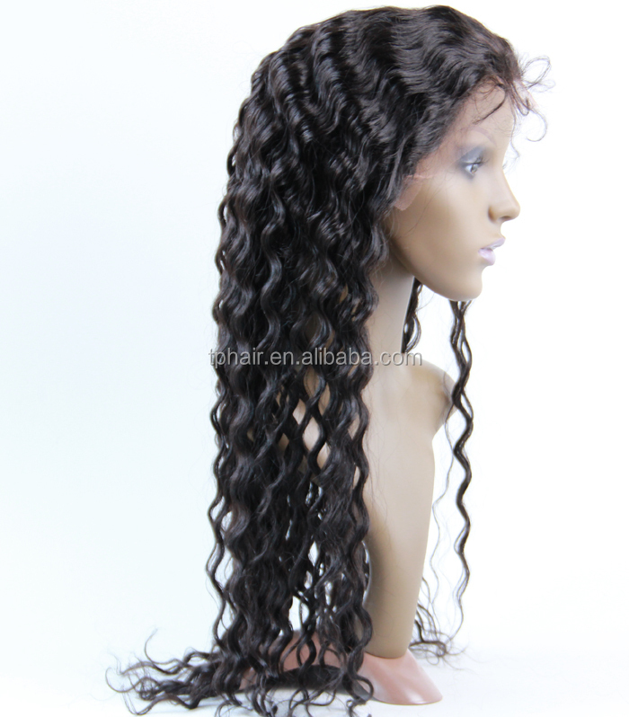 100 Unprocessed High Quality Wholesale Jerry Curly Hand Tied Brazilian Human Hair Full lace Wig