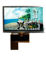 4.3'' tft lcd screen 480x272 dots resolution, resistive touch panel