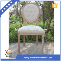 Wooden Louis Dining Chair / Wood Chair / White Wood Chair / Round ...