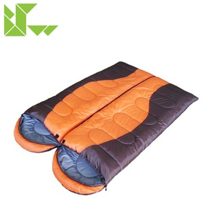Multifunctional Rectangular Style Spliced Polar Fleece Adult Camping Backpacking Sleeping Bag