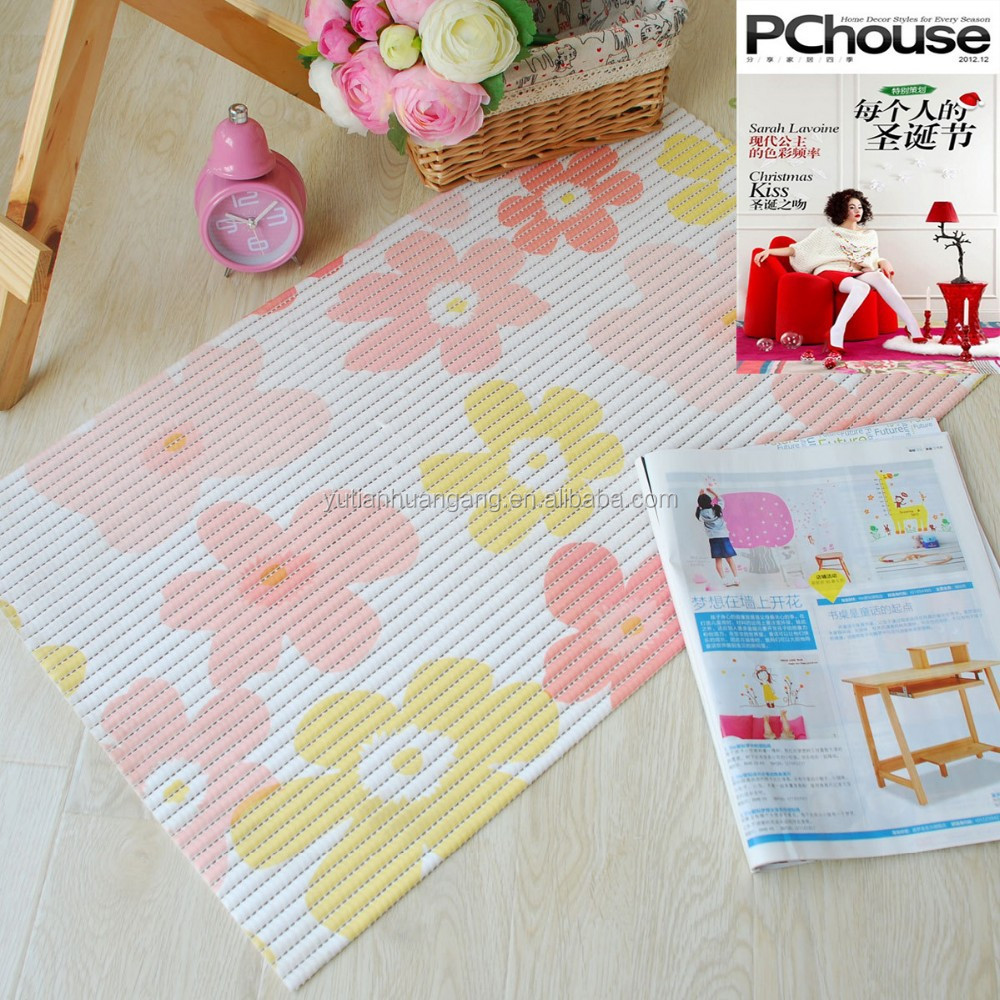 eco-friendly decorative kitchen plastic floor mats/kids foam pvc