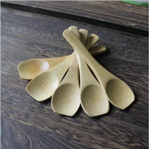 Mini piatto-avancorpo di bambù cucchiaio bambino