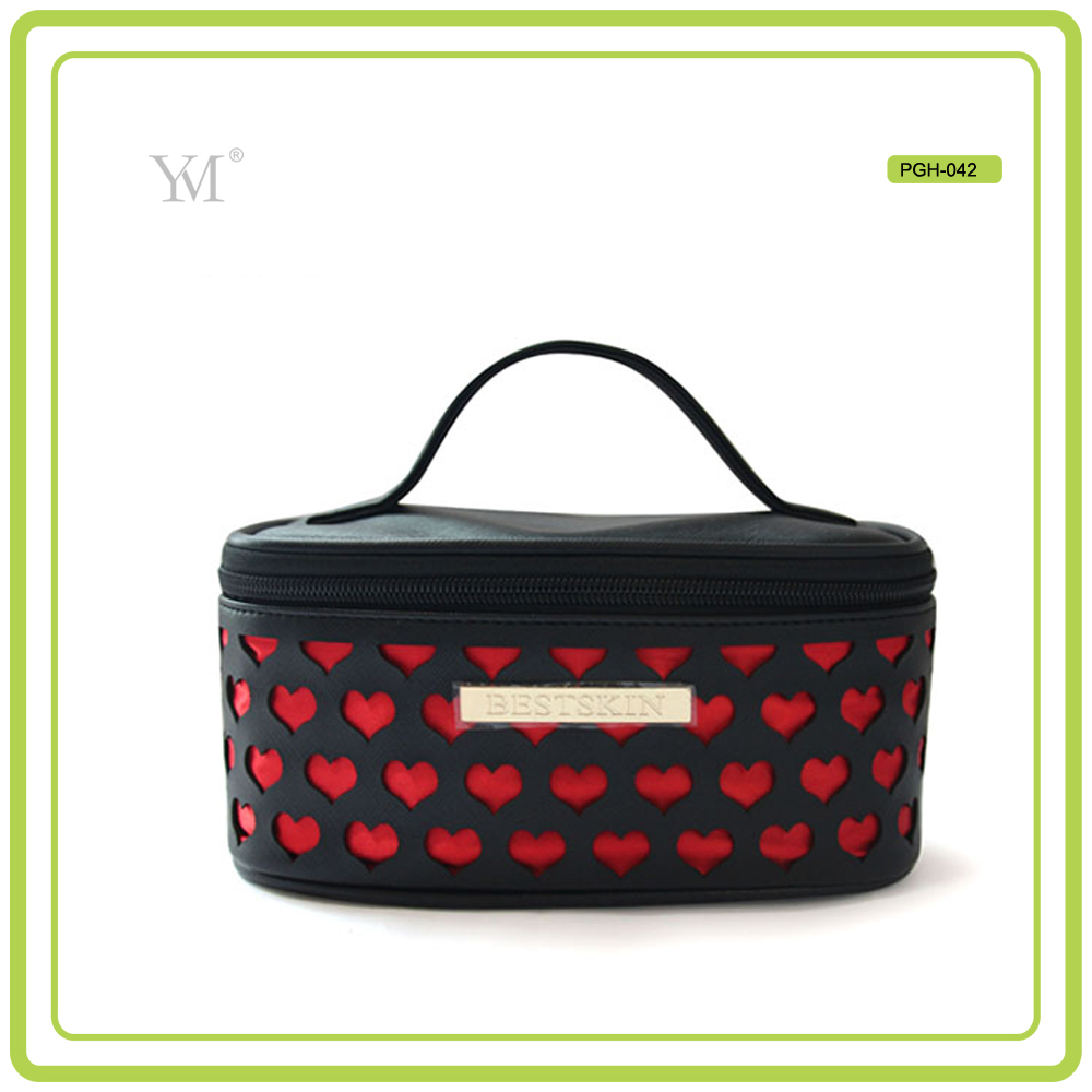 New product promotional 2017 high quality laser cut portable makeup cases for travel