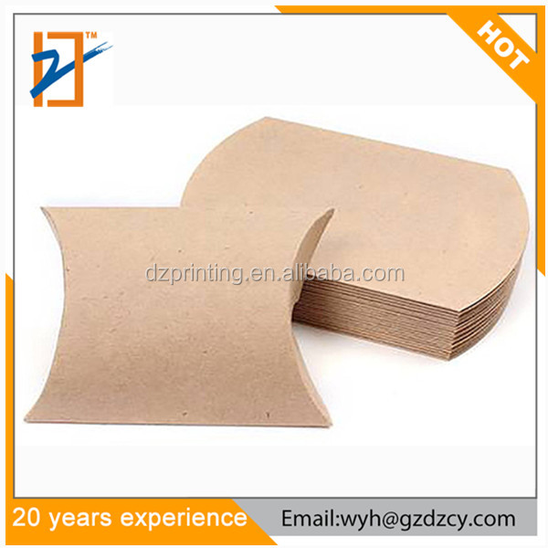 Wholesale Anti-Scratch Mini Clear Kraft Paper Pillow Packaging Gift Box For Candy