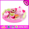 2016 Role play toy pink wooden tea toy for sale W10B092