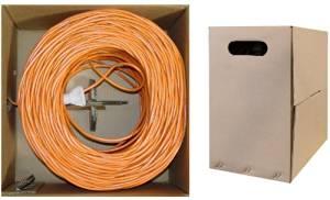 C&E 1000- feet 23 AWG CAT6, 550-MHz Stranded Bulk Cable, 4-Pair, PVC Orange