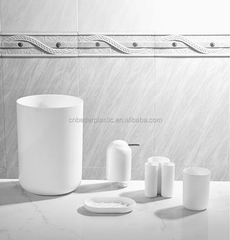 Plastic bathroom sets pp bathroom accessories european for Bathroom accessories plastic