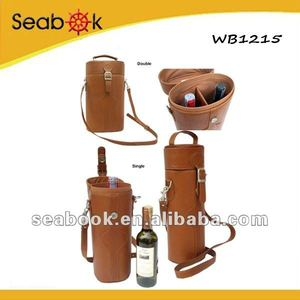 pu leather wine bottle carrier