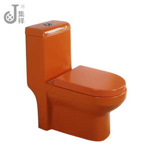 Orange color ceramic sanitary ware one piece wc toilet seat