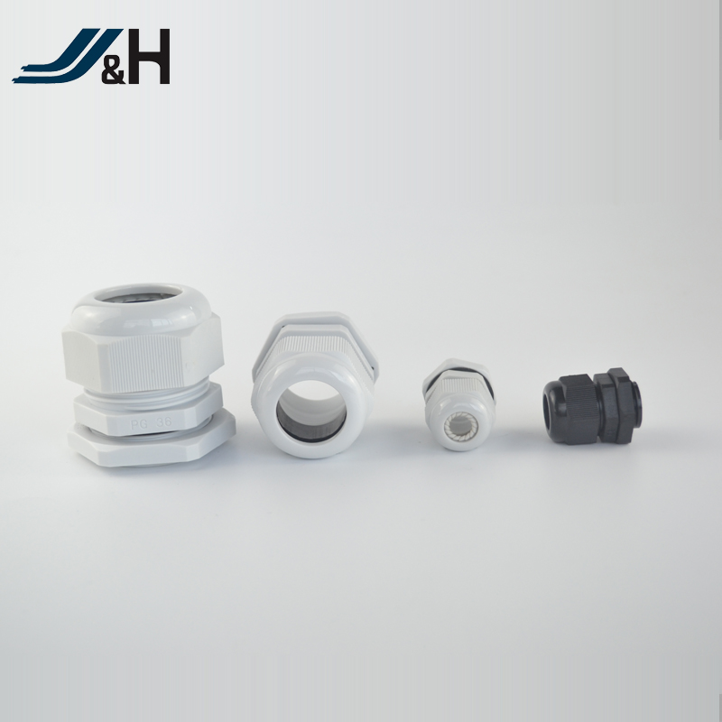 Waterproof IP68 Plastic Nylon standard thread wire connector PG size7 9 11 13.5 16 21 29 36 42 48 plastic cable gland