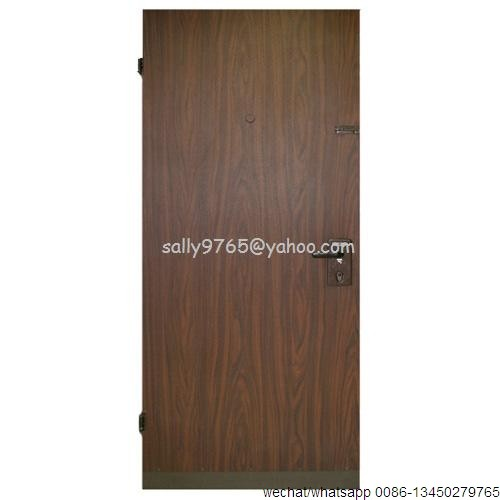 PU foam infilling six panel steel white modern bedroom doors