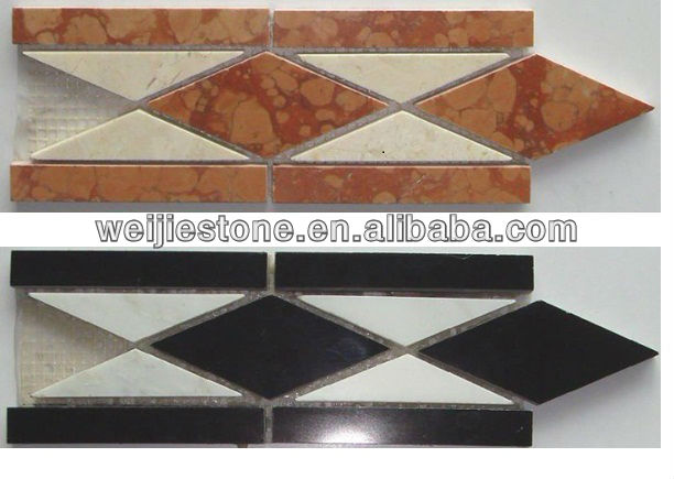 Marble Flooring Border Designs Mosaic Tiles View Weijie Stone Product Details From Yunfu Co Ltd On Alibaba