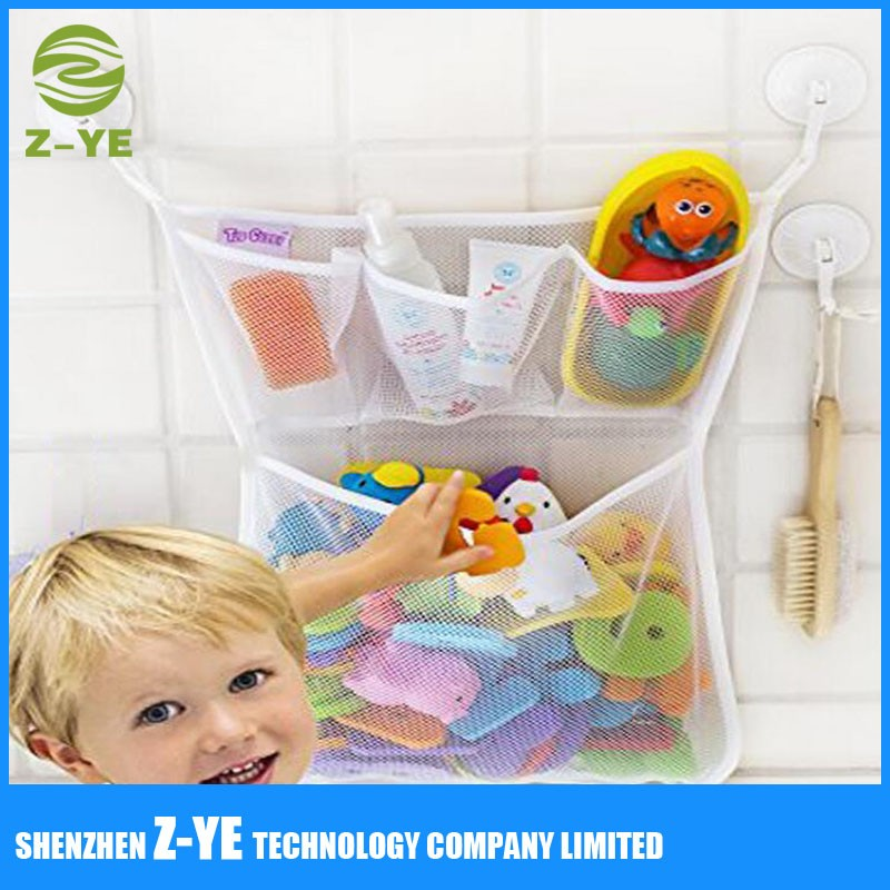 Strong Hooks Net For Bathtub Toys & Bathroom Storage Multi-use ...