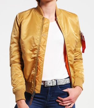aac92a88cee Gold Ma 1 Flight Jacket Women Fashion Quilted Metallic Bomber Jacket ...