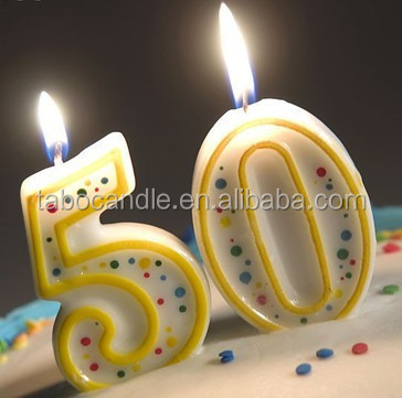 Happy Birthday Cake Decoration Candle Elegant Decorations Items