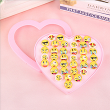 Party Favors Carnival Children Baby Toy Emoticon Jewelry Ring Emoji Rings