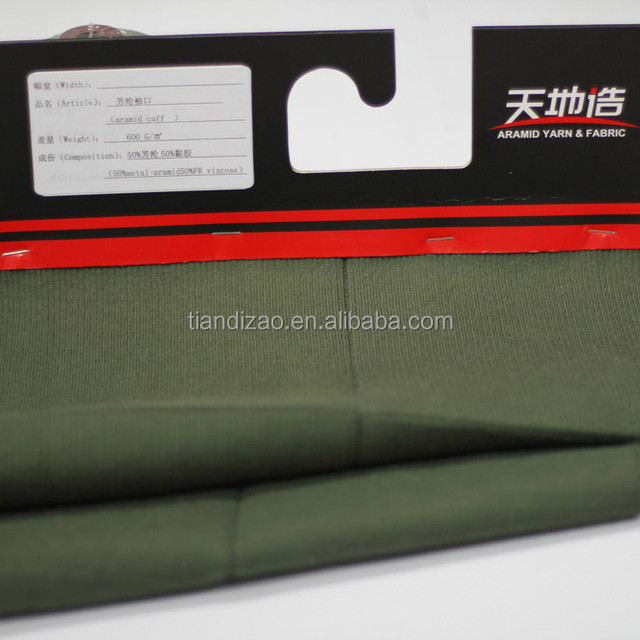 50% Meta aramid and 50% FR lenzing viscose fabrics for coverall cuff
