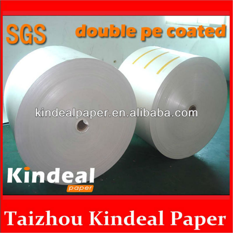 food grade glass pe coated paper for paper cup