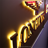 Custom outdoor high quality illuminated 3d logo backlit led channel letter sign