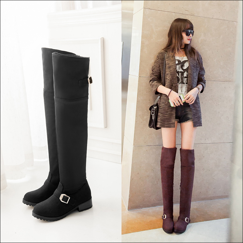 There is nothing quite as sexy and chic and a knee-high boot. Check out our selection of black thigh-high boots, brown leather thigh-high boots and high heel thigh-high boots.