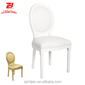 Superbe Dining Chair Wooden Dining Chair White Ghost Wooden Louis Chair ZJ02