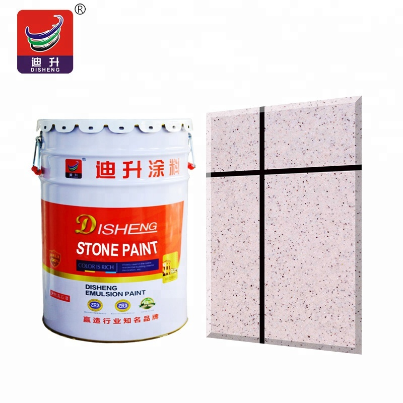 Weather resistant silicon acrylic exterior natural stone paint wall fleck stone paint spray effect <strong>coating</strong>