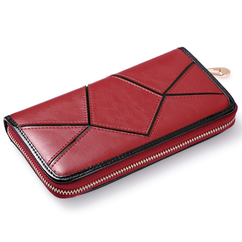 New fashion designer women wallets 5 Colors Long brand Genuine Leather Wallets Popular Portable Change Purse Lady Cash Purse