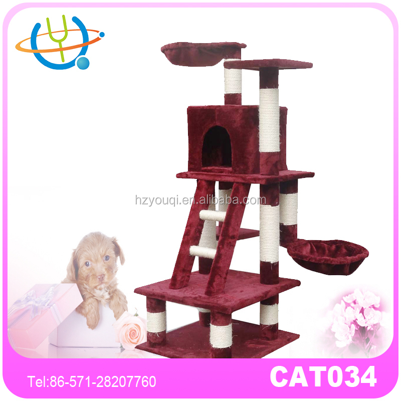 Fashion Designs For Cat Hide and Play Cat Furniture High Quality Cat Tree Sale