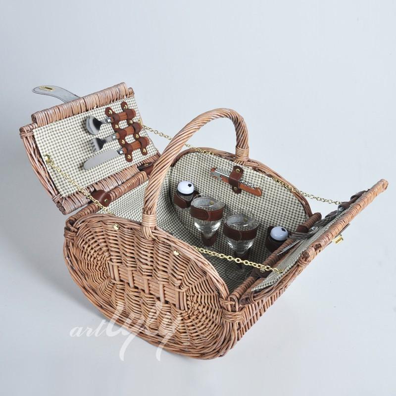 Cheap Willow Mini Picnic Basket,Custom Picnic Basket,Round Picnic ...