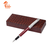 High quality gift sets pen , leather pen box